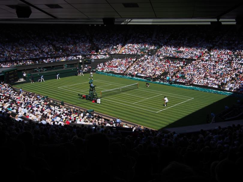 From Roger Federer's opening match in the 2018 Championships at Wimbledon against Dusan Lajovic of Serbia.