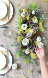 Handmade Centerpiece on table