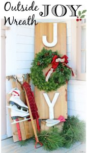 JOY Handmade Christmas sign