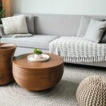 Sofa with rounded tables soften your space