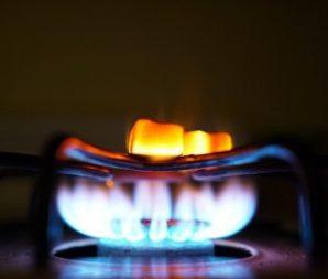 Gas stove closeup