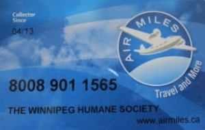 Winnipeg Humane Society Air Miles