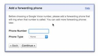 add a forwarding phone