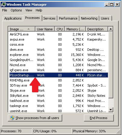 Информация о файле PIconStartup.exe.