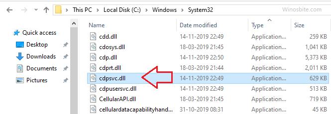 расположение файла cdpsvc.dll