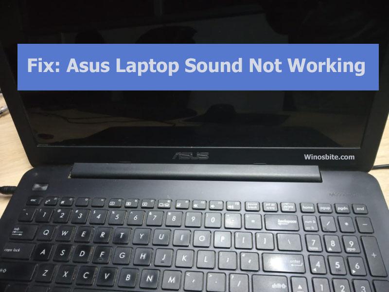 Исправить звук ноутбука asus не работает