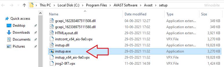 Расположение файла Instup
