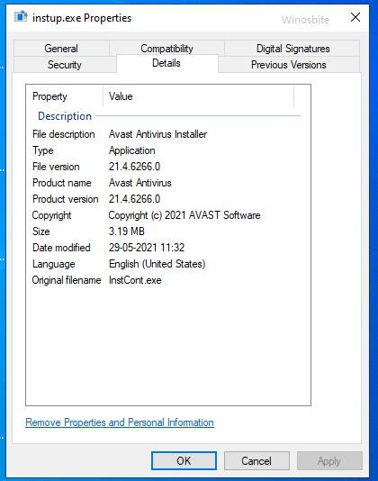 instup.exe файл avast