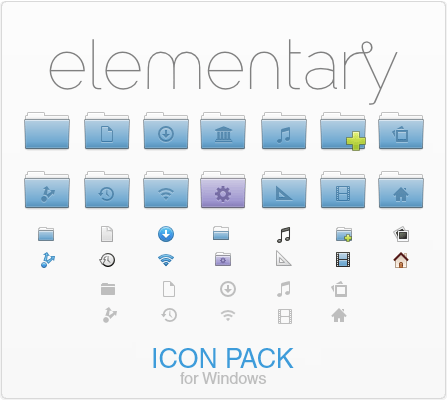 Elementary icon pack — системные иконки классического дизайна