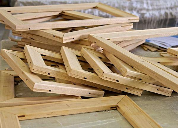 custom made wooden stretcher frames