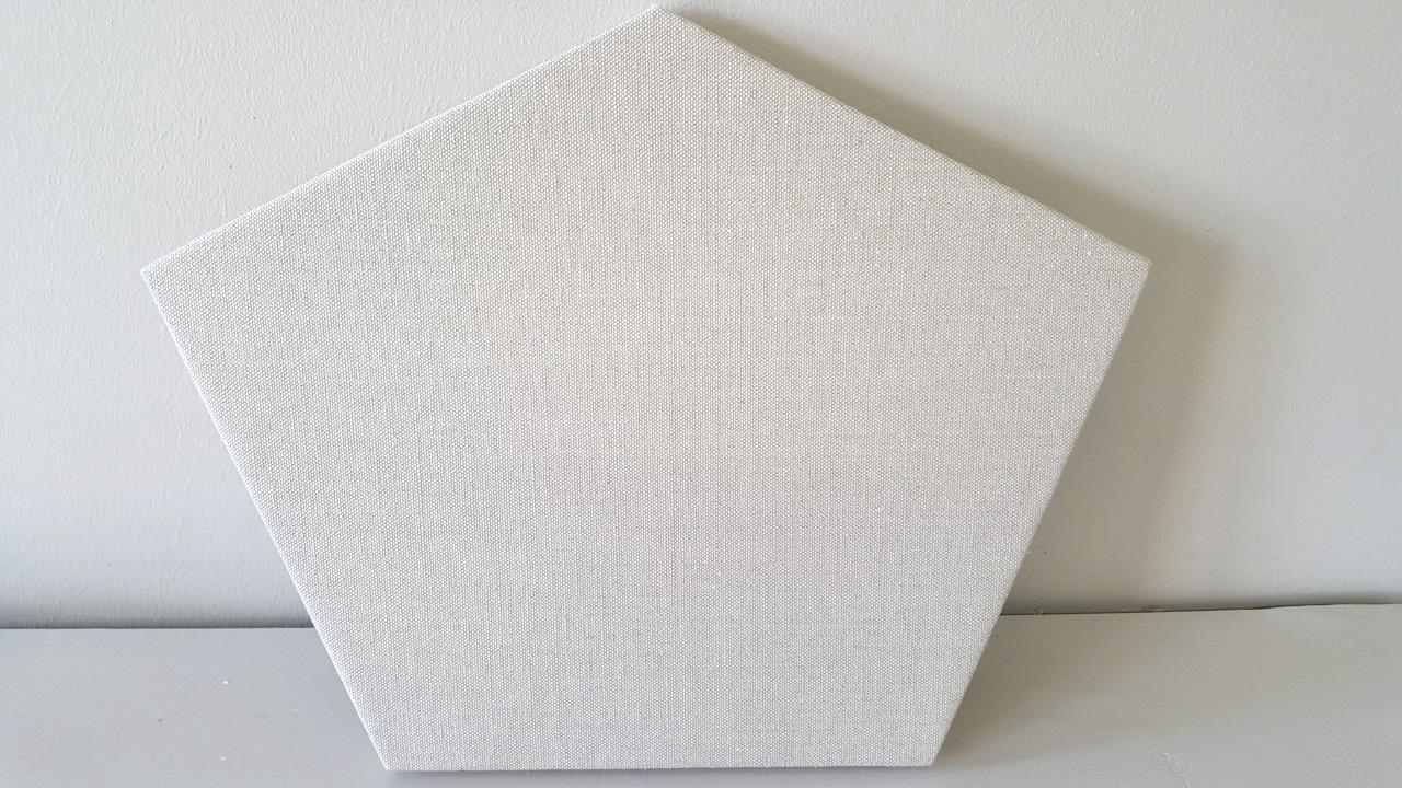unusual shaped canvas pentagon