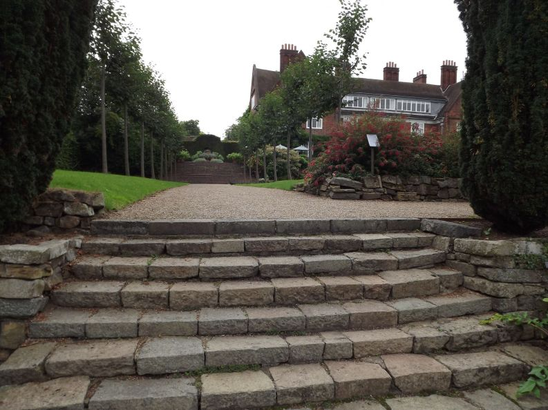 Lower Lawn steps, 6th August 2016, Winterbourne House and Garden, Digging for Dirt