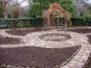 The Sunken Garden following successful restoration in 2004, Winterbourne House and Garden, Digging for Dirt