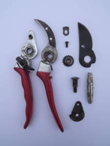 Dismantled secateurs, Winterbourne House and Garden, Digging for Dirt