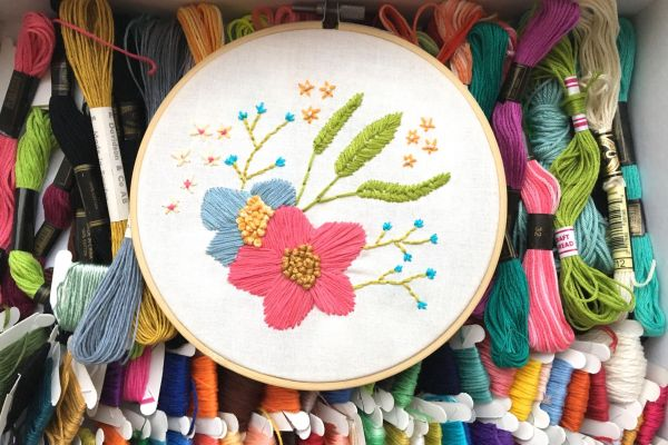 example of an embroidery hoop