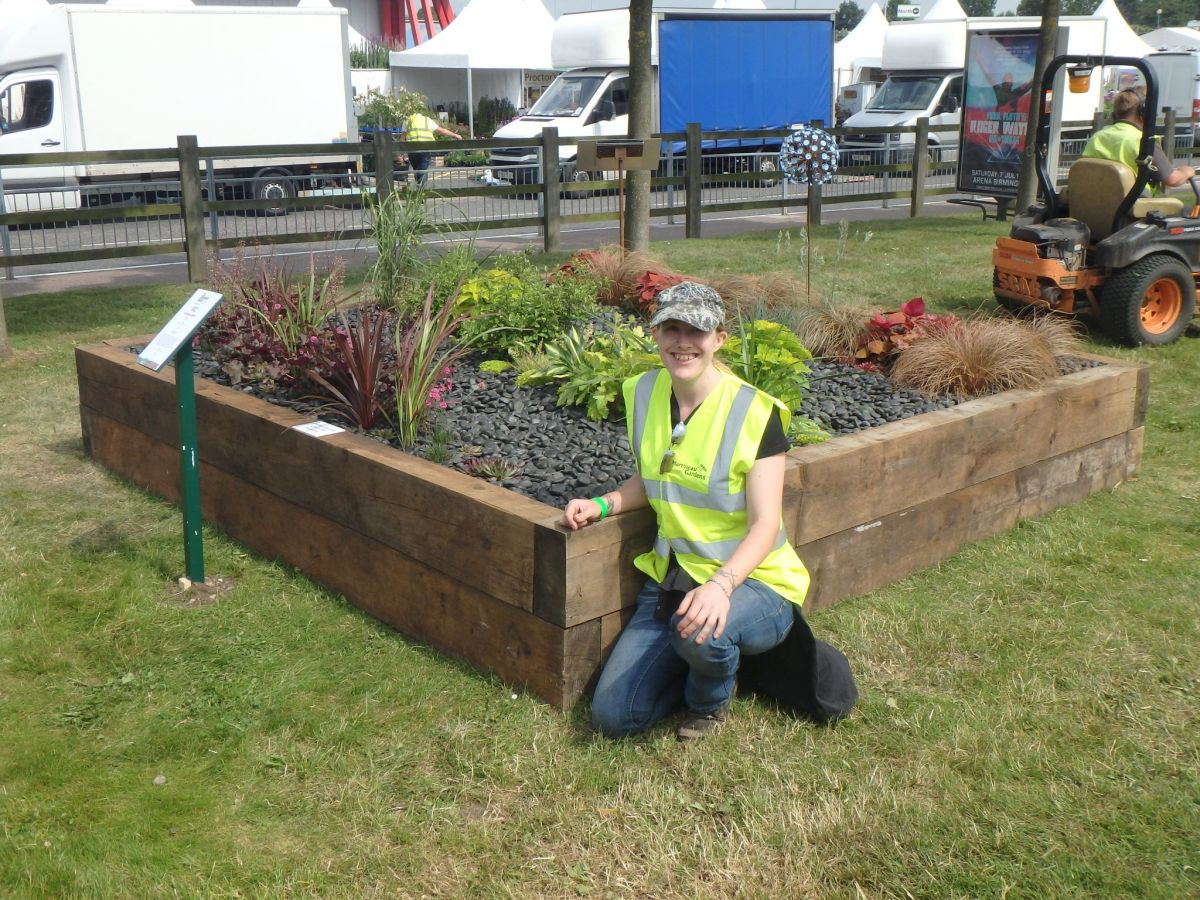 Cath and the finished garden, Cath Fletcher, Winterbourne House and Garden, Digging for Dirt