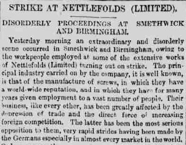 Birmingham Daily Post 27 February 1886 - Strike intro, The Archivist, Winterbourne House and Garden, Digging for Dirt
