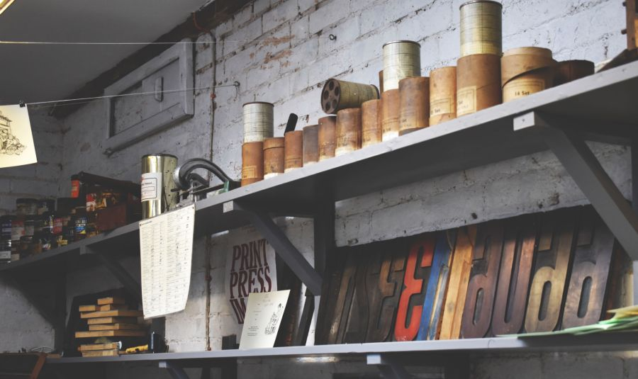 The Printing Press, photograph by Victoria Buchanan, Snapshot, Winterbourne House and Garden, Digging for Dirt