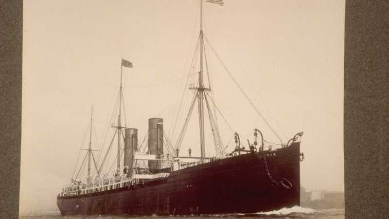 S.S. Servia ©New York Port, Ship Images, 1851-1891 via ancestry.co.uk, News from the Archives, Digging for Dirt, Winterbourne House and Garden