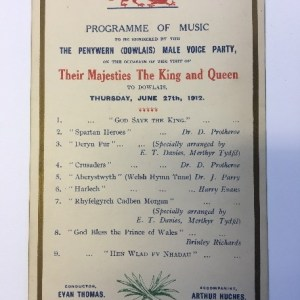 Dowlais royal programme of music, News from the Archives, Digging for Dirt, Winterbourne House and Garden