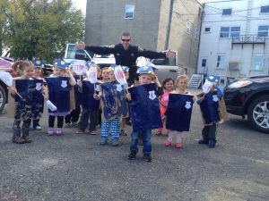 Officer Kris and his Junior Wintergreen Officers