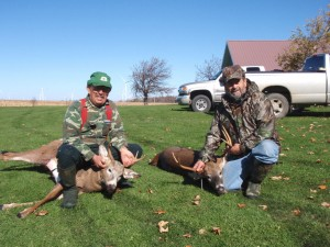 My brothers Lee and Jim with two Tug Hill bucks