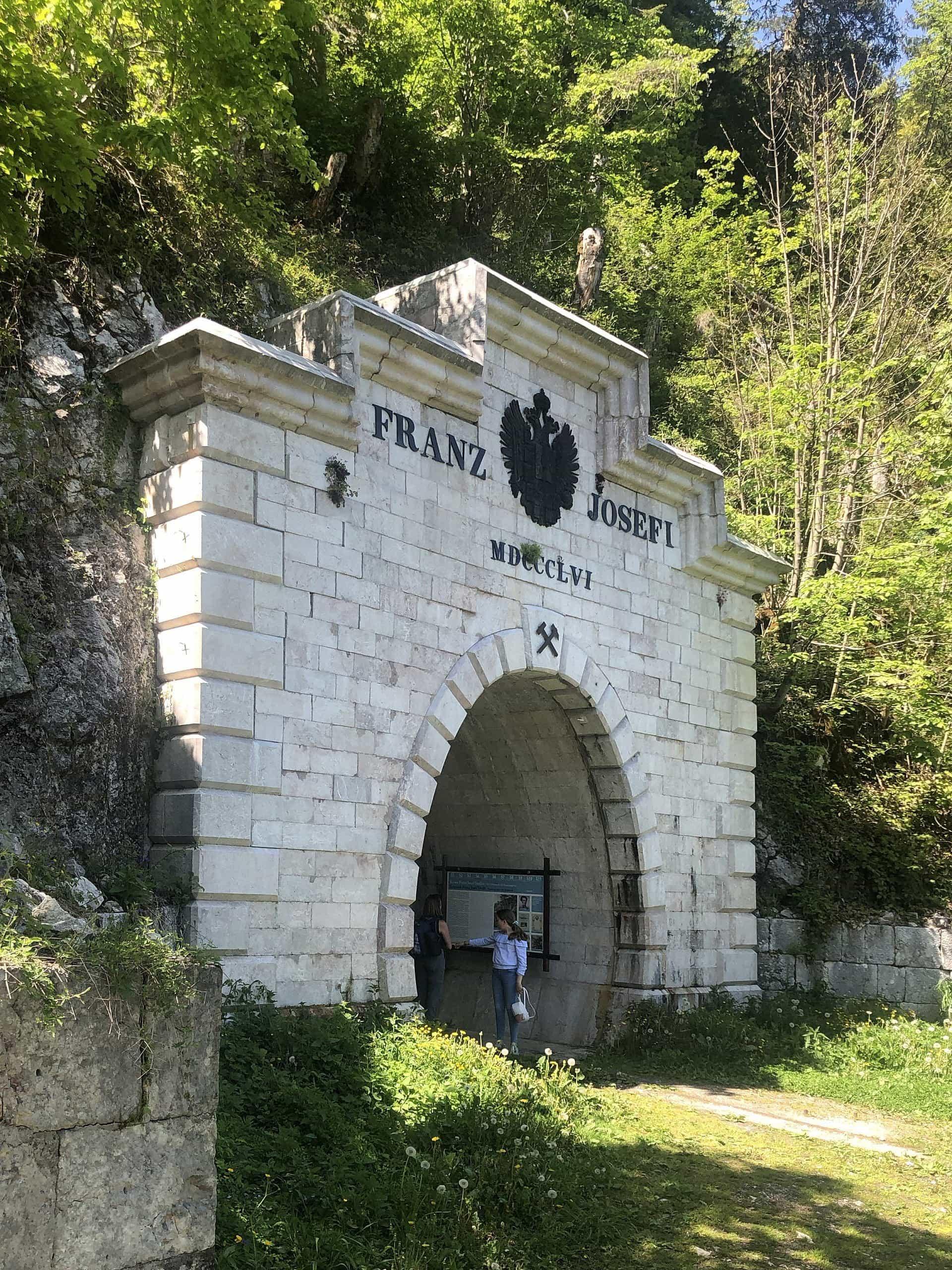 Entrance to the Old Salt mine in Hallstatt