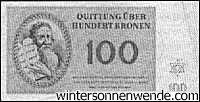 Theresienstadt, one hundred Kronen