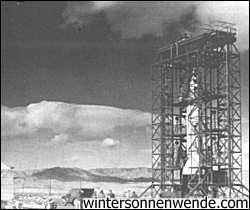 Erbeutete deutsche A-4/V-2 Rakete