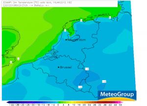 Eerste ijsdag in Nederland winter 2011/2012