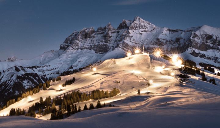 Champéry night skiing