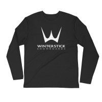 Winterstick Classic Trident Logo Long Sleeve Fitted Crew | Black