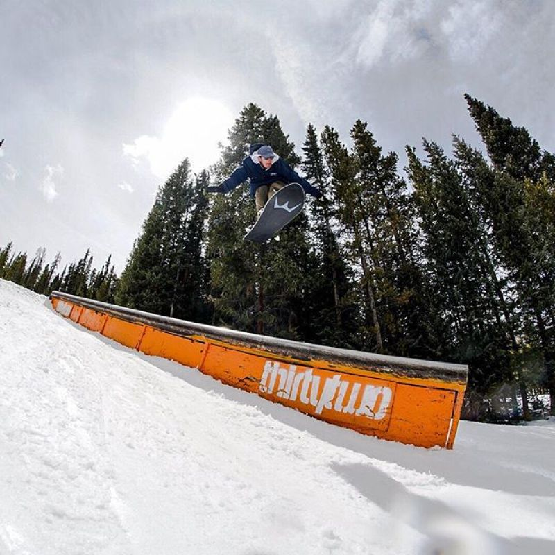 Who says rails are for sliding? #mindthegap #winterstickers @coppermtn @thirtytwo Rider: @bajablaze_  Photo: @timmcutler