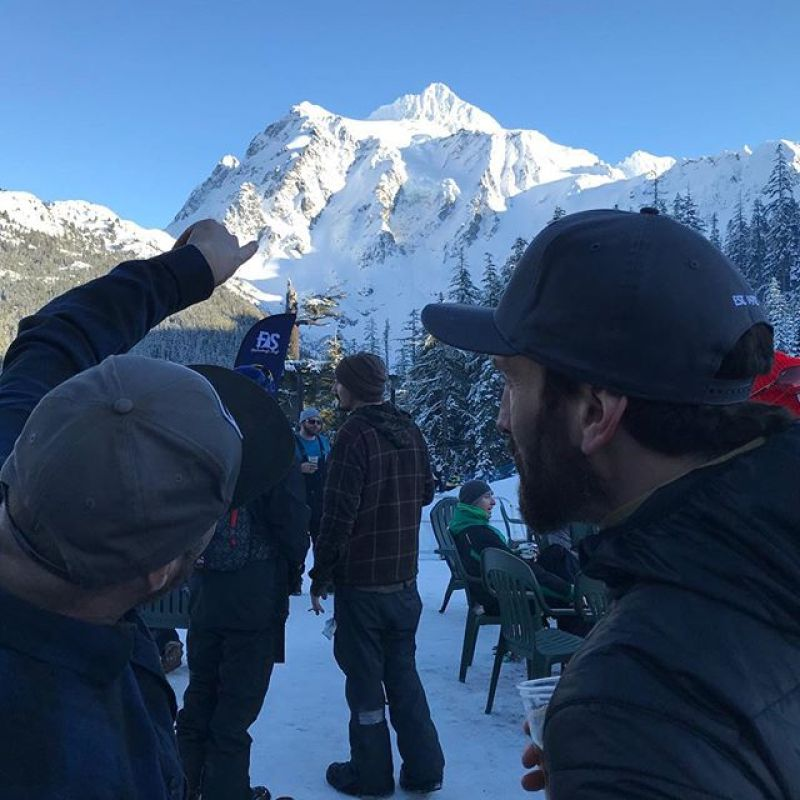 @sethwescott and @mark_fawcett checking out some lines on Mount Shuksan during the #LBS last year. These two #CVA Big Dogs are two legends who know how to get it done in the mountains. Where will your @wintersticksnowboards take you?
