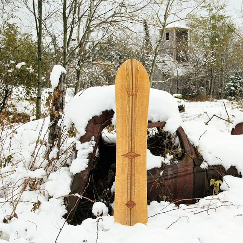 Ditch your old rusty ride and get on the tried and true Seth Westcott Pro! A directional all mountain slayer, this board is at home in the backcountry or digging trenches worthy of the two time gold medallist himself. ..#Winterstick#madeinmaine #wood#thefirstnameinbackcountry#snowboarding