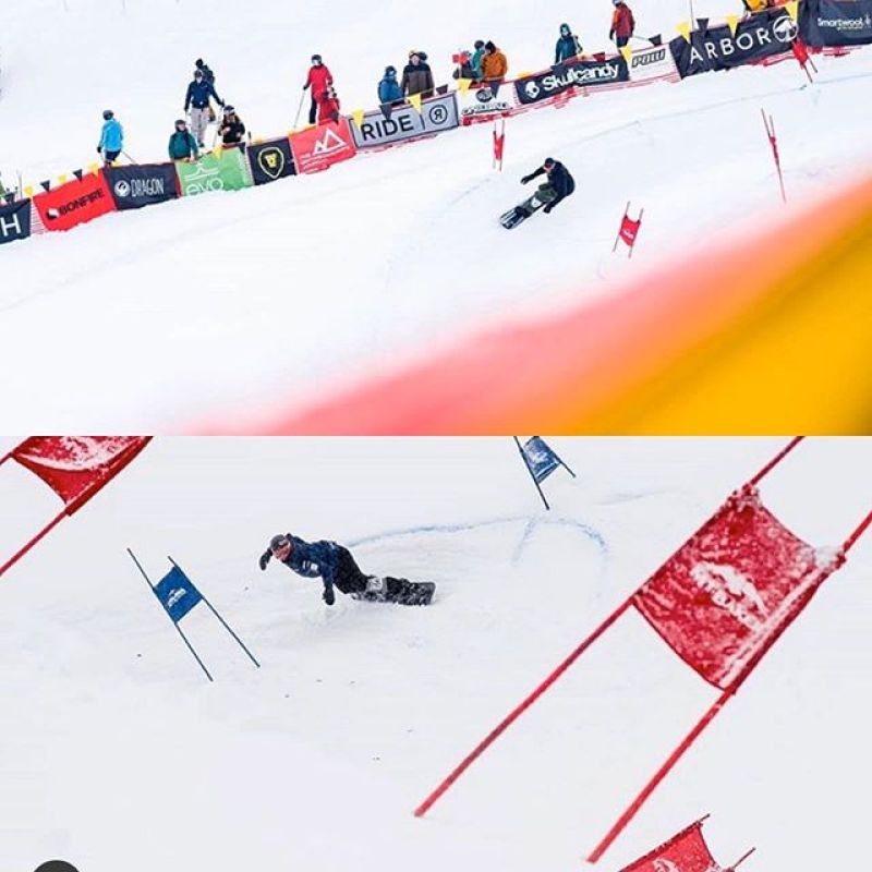 #Tom Burt and @jarrydhughes both qualify for today's #lbs finals today. Team Winterstick looking strong with @sethwescott @grahamwatanabe @robkingwill @boden_gerry @jasonkannon and crew all getting low for duct tape! 📸 @colin_wise_man #lbs34 #staylowbepowerful #wintersticking #artoftheturn