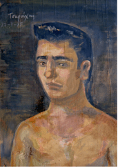 Yannis Tsarouchis. Portrait of a young man, painting.