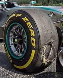 Pirelli tyre failure