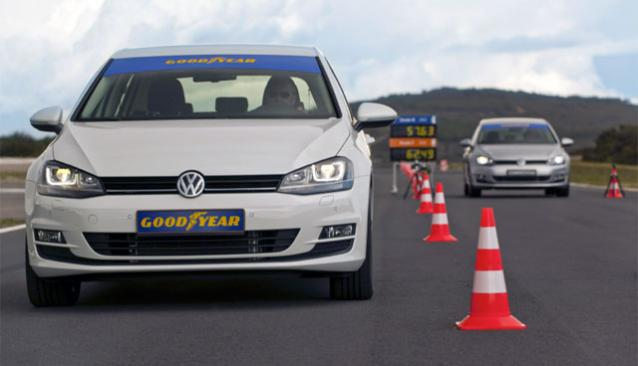 Goodyear EfficientGrip Performance: Track test at the track at Mireval Montpellier in France.