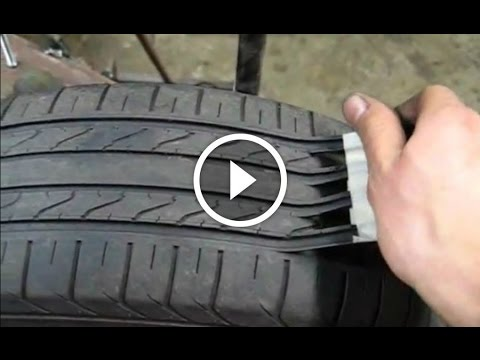 Tyre Tread Scam-Here's How Scam Artists Make Old Tyres That Are Unsafe Look Like New Again!