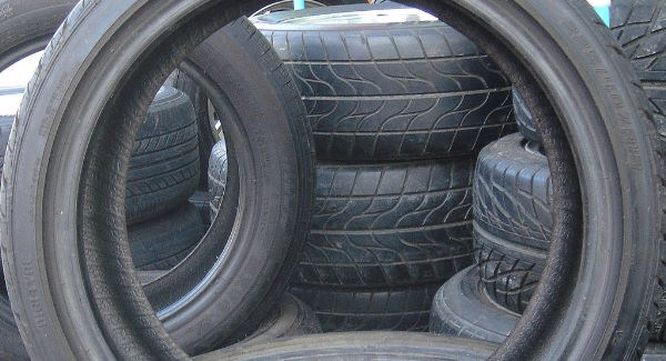 Waste tyres-are great for growing thing in especially potatoes and bedding plants