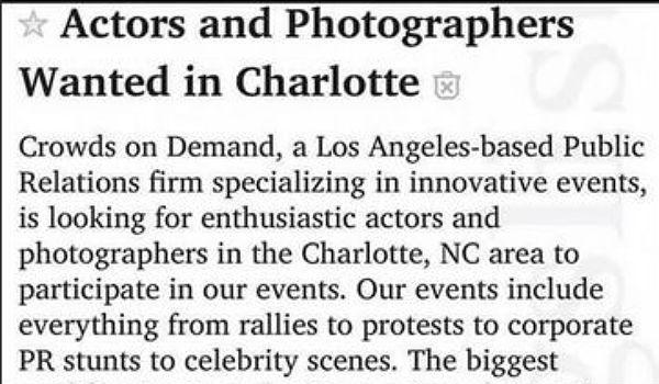 Charlottesville actors ad