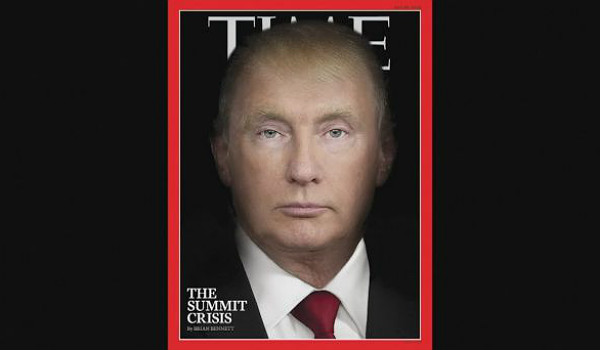 Time magazine Putin-Trump morph