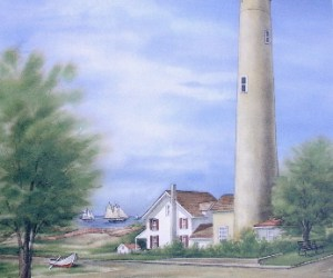 Cape May Lighthouse Unframed Print