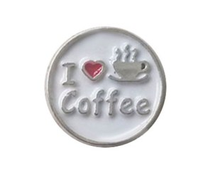 Love Coffee Floating Charm for Forever in My Heart Locket Jewelry