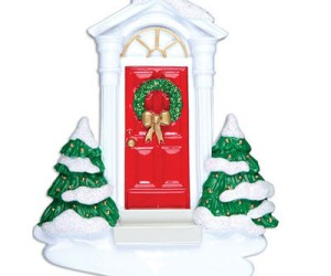 New Red Door Personalized Christmas Ornament