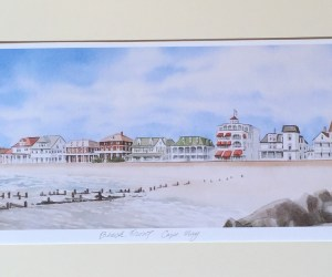 Beach Front Cape May-Matted Unframed Print by Ken Frye