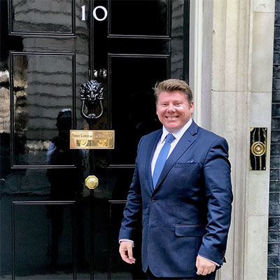 Dean Russell outside Number 10 Downing Street