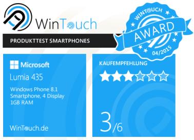 Lumia435-award