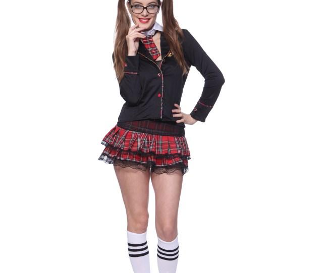 Ladies School Uniform Costume Sexy School Girl Fancy Dress Outfit Lingerie